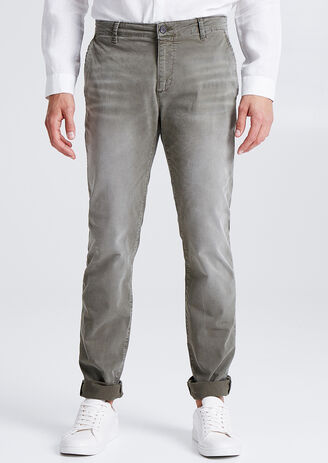 Slim chino garment dyed