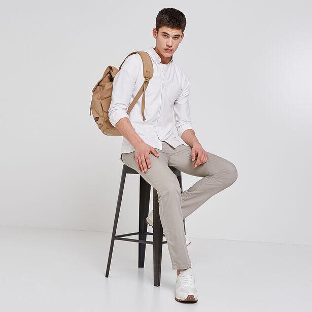 Pantalone chino con coulisse in cotone lino lyocel
