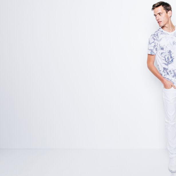 T-shirt col rond imprimé botanique