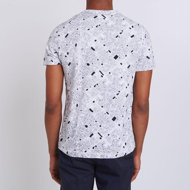 T-shirt met all-over print stadsplan