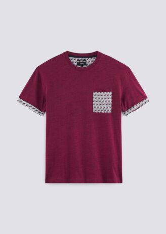 Cool fit T-shirt in fantasiestof met borstzak