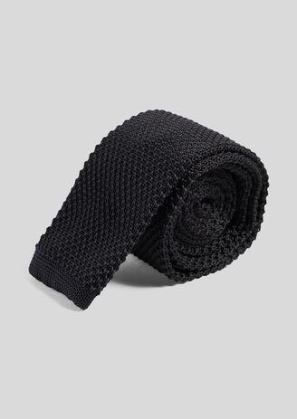 Cravatta in tinta unita maglia blu marine