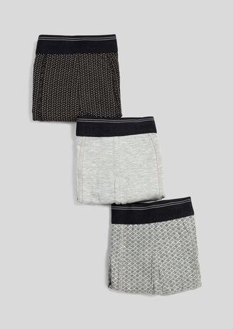 Set van 3 boxers, grafisch motief