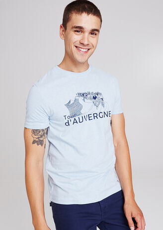 Tee shirt col rond motif région Auvergne