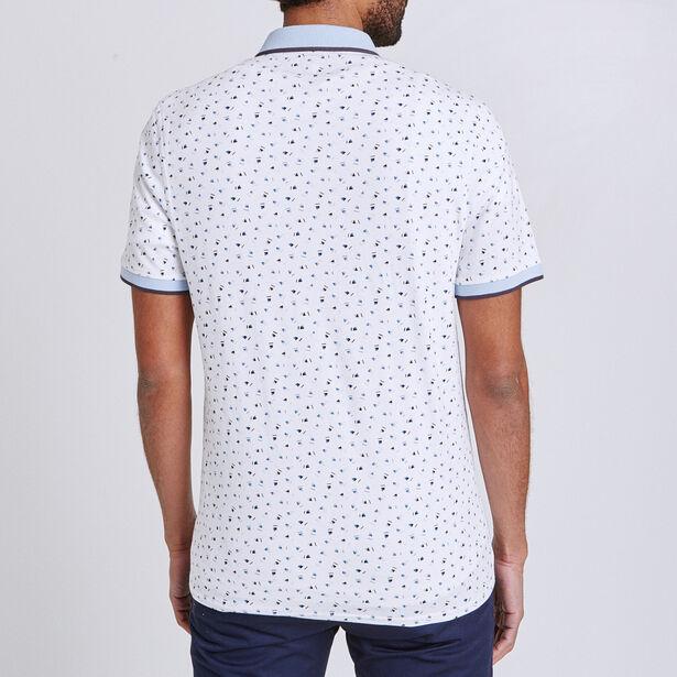 Polo met all-over geometrische print
