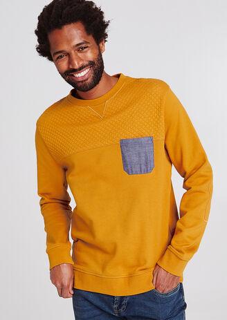 Gematelasseerde sweater