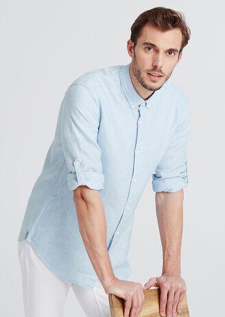 Regular hemd in linnen