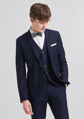 Voordelig slim kostuumvest, middenblauw