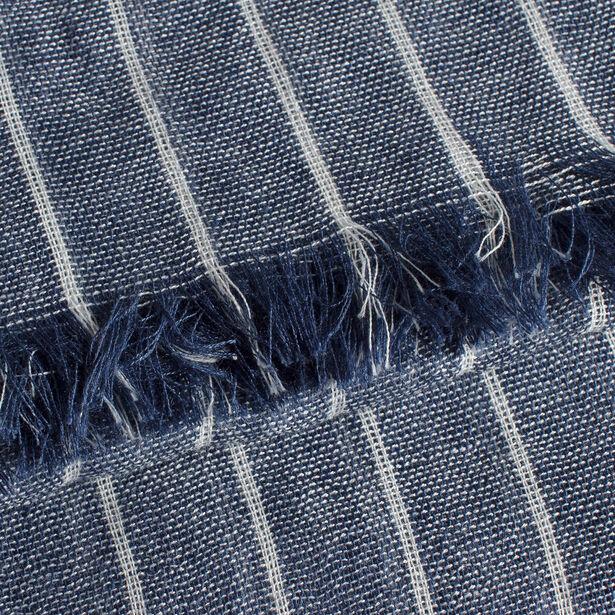 Lichte, blauw gestreepte sjaal