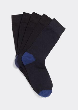 Lot de 5 paires de chaussettes talons pointes coul