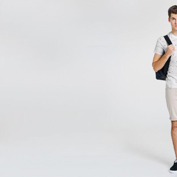 tee shirt imprimé mini triangle + poche