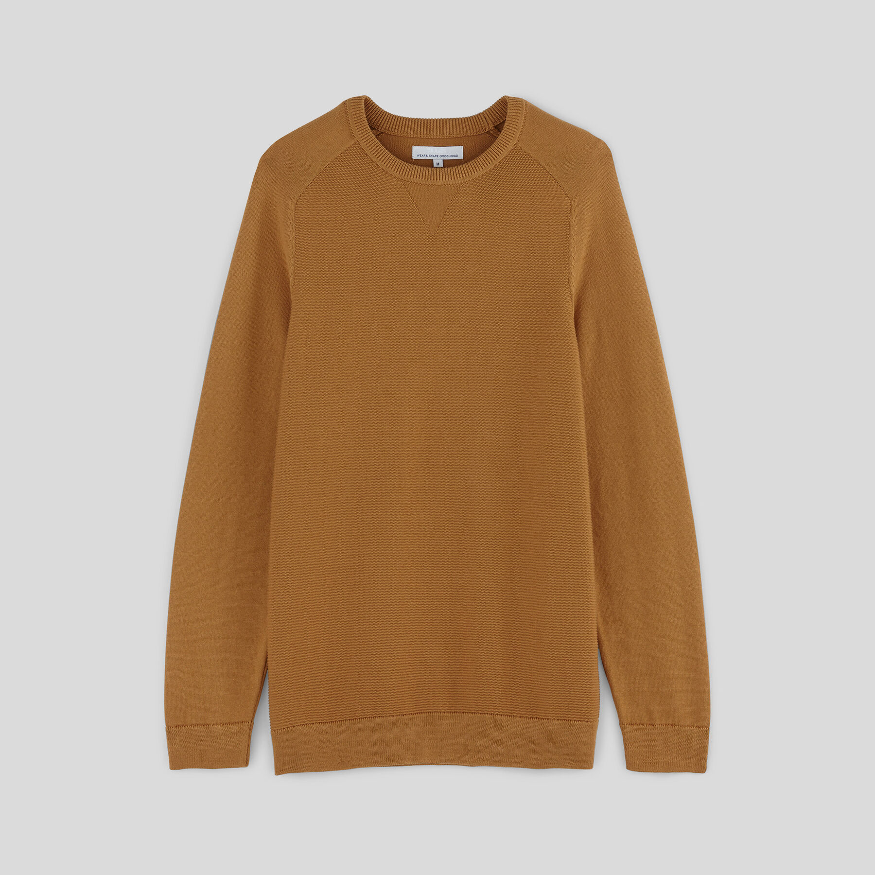 e2680df6fdfc8 Pull col rond Ocre Homme - Jules