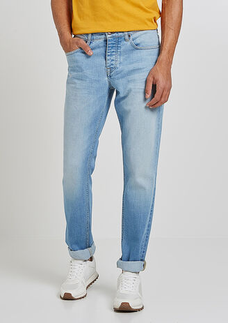 Jeans, straight snit, light wash