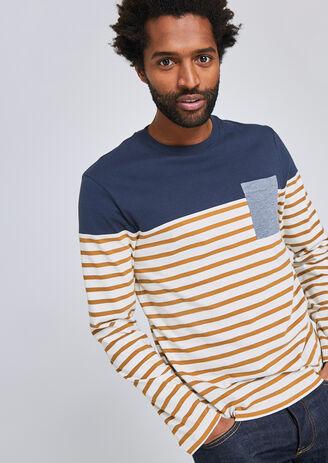 T-shirt colorblock marinière