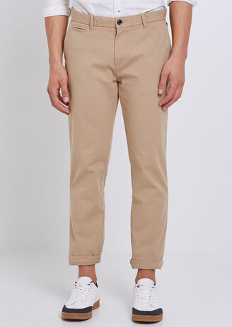 Chino  canvas Straight garment dyed