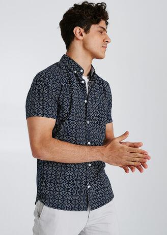 Regular hemdje met print