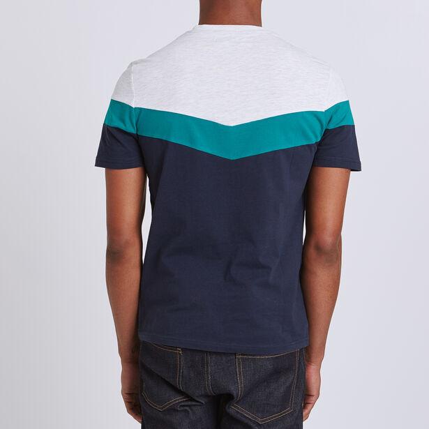 T-shirt collo rotondo colorblock