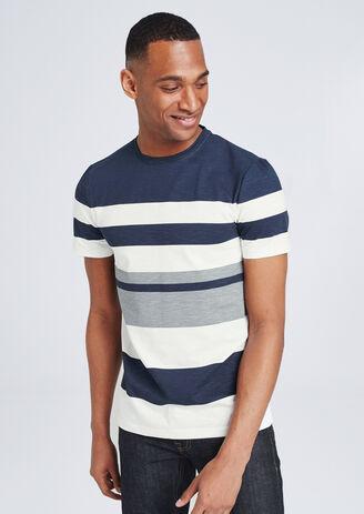 T-shirt met grote strepen
