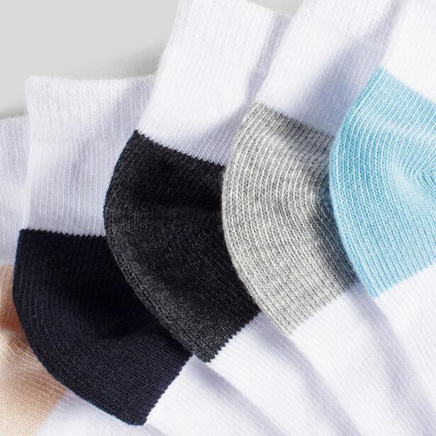 Lotto di 5 paia di calzini bassi