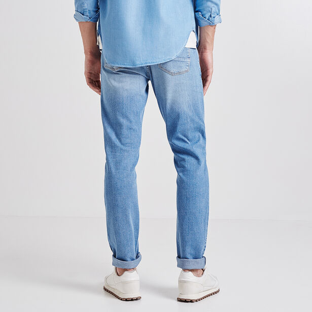 Slim jeans, lichte stof