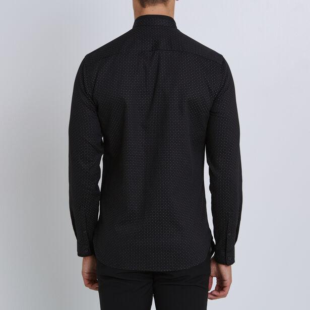 Camicia Ricamata Slim Collo da Ufficiale