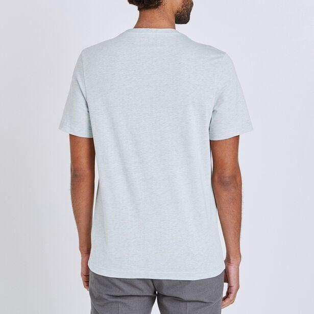 T-shirt met V-hals en fotoprint out of office
