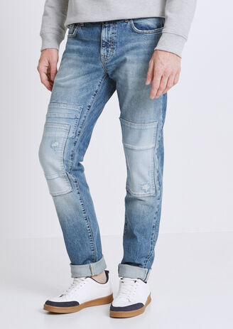 Jean Straight Selvedge Japonais à patch