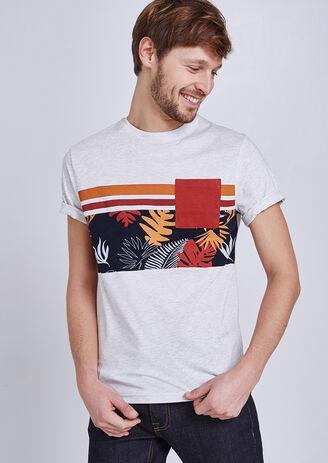 T-shirt met print en zak