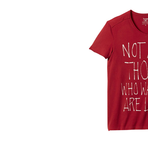 T-shirt col V manche courte imprimé
