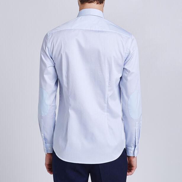 Slim hemd met print op satijn