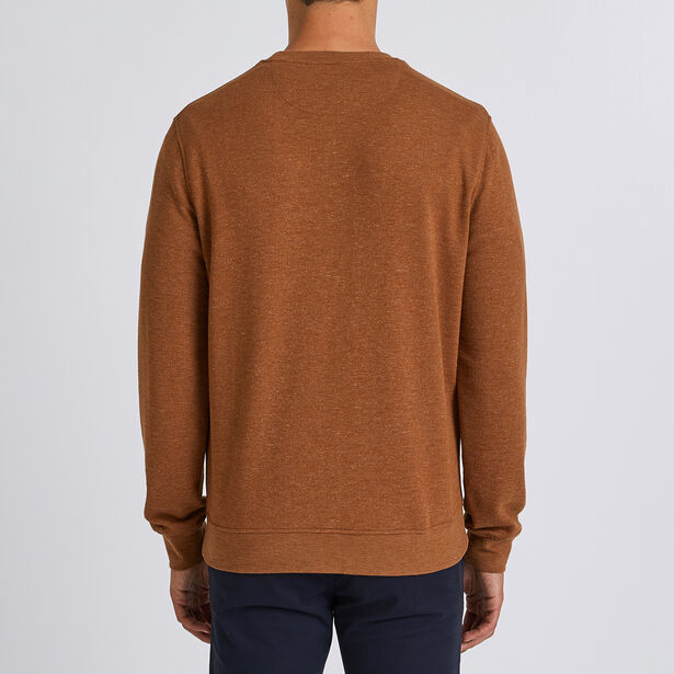 Gemêleerde sweater met patch