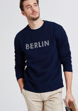 Sweater met opdruk Berlin