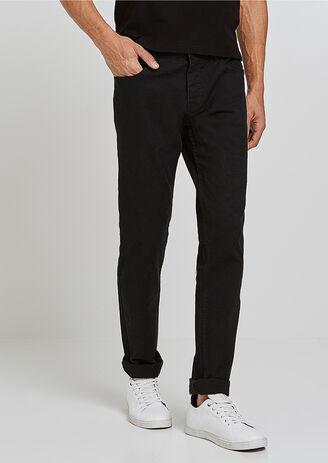 Broek, slim snit, 5-pockets model