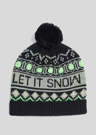 """Bonnet d'hiver """"Let it snow"""""""