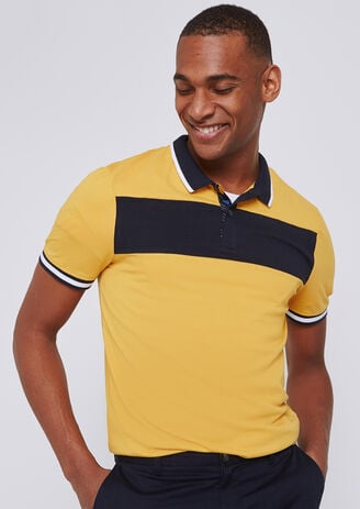 Polo colorblock col contrastant