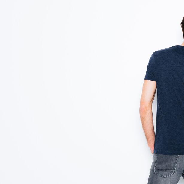 """T-shirt col V imprimé """"Tonight or never"""""""