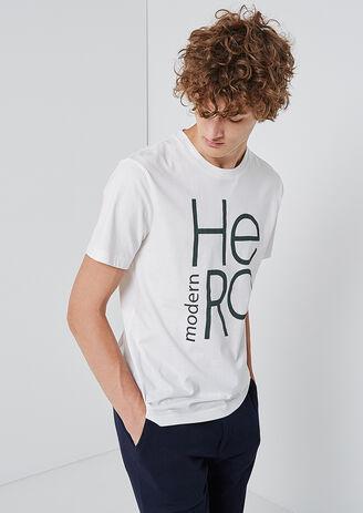 Tee shirt col rond imprimé modern hero