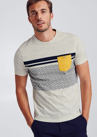 Colorblock T-shirt met zak