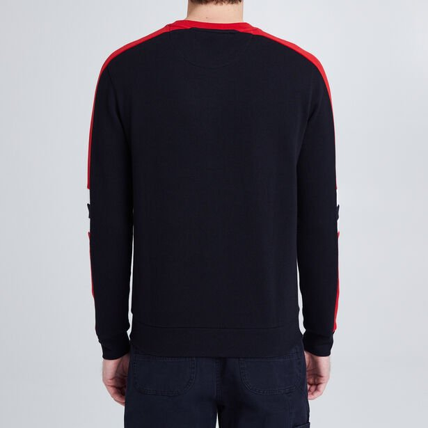 Sweat col rond color block