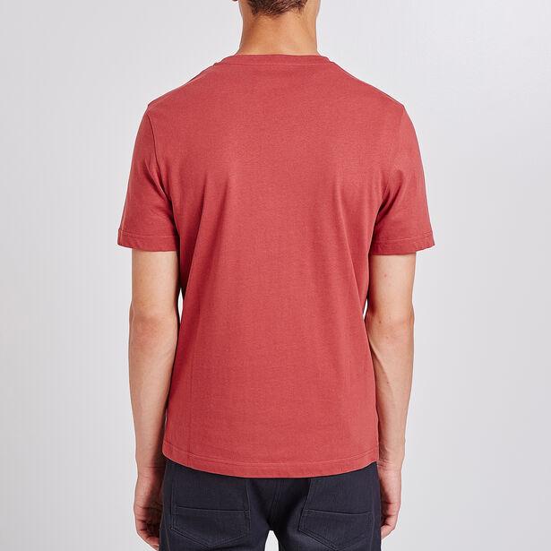 T-shirt ronde hals, opdruk 'MHU.