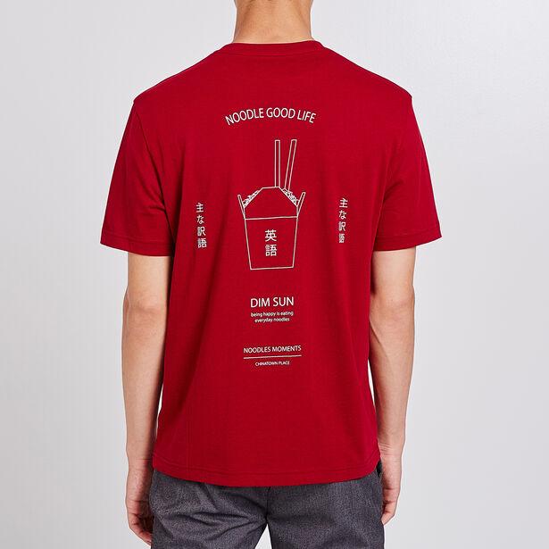 Tee shirt col rond imprimé boite noodle