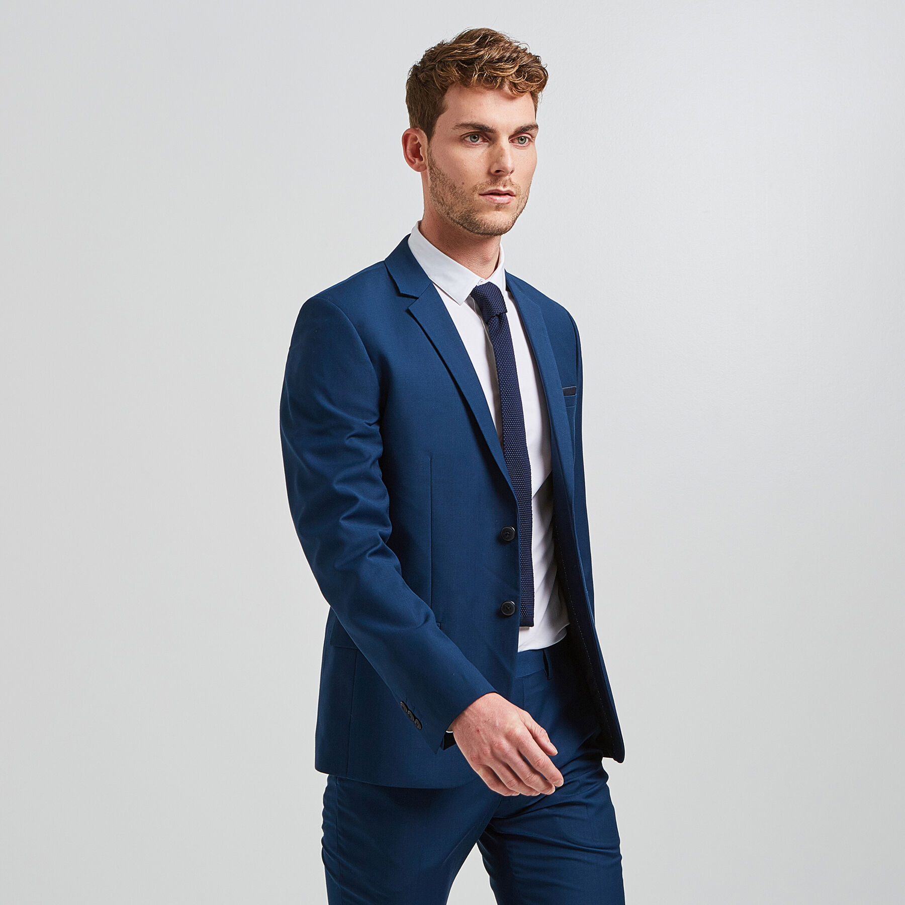 896d0acf6b8e3 Veste de costume slim Bleu Canard Homme - Jules