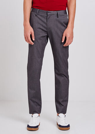 Pantalone Chino Slim in rilievo