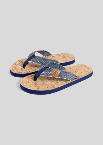 Slippers in canvas