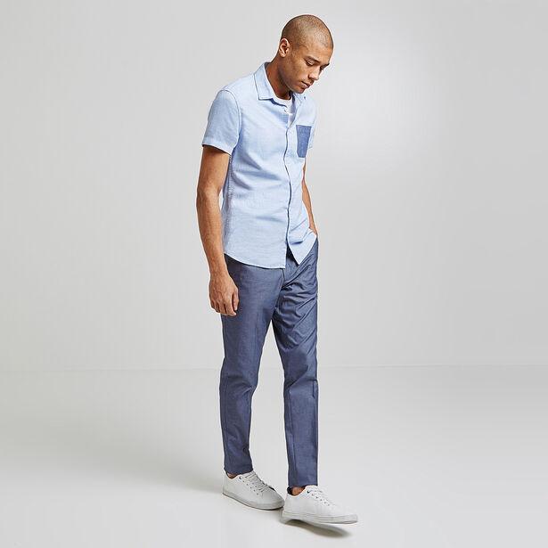 Slim hemd, korte mouw