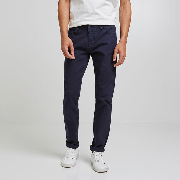 Broek, slim snit, 5-pockets model