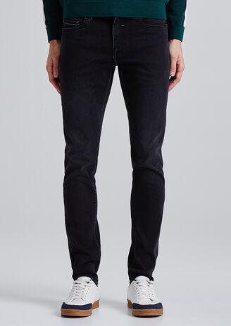 Slim jeans Urbanflex gewassen zwart