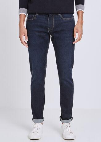 Slim jeans Urbanflex, gewassen blauw