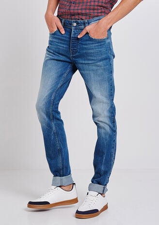 Jeans Slim sbiadito greencast