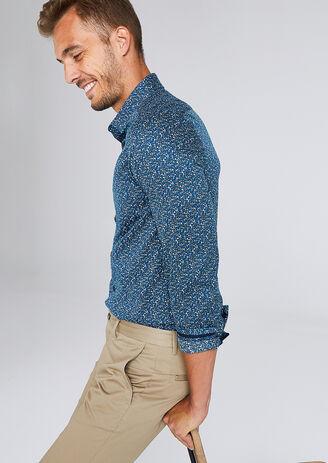 Slim hemd met bloemenprint